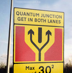 Quantum Junction roadsign from b3ta photoshopping contest