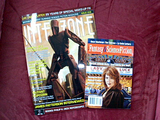 One Interzone, one F&SF - w00t!