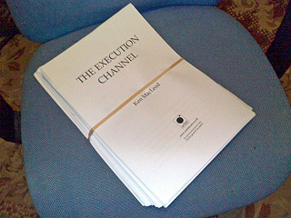 Ken Macleod's 'The Execution Channel' in manuscript form