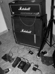 Random image: Marshall DSL50 half-stack with stompboxes