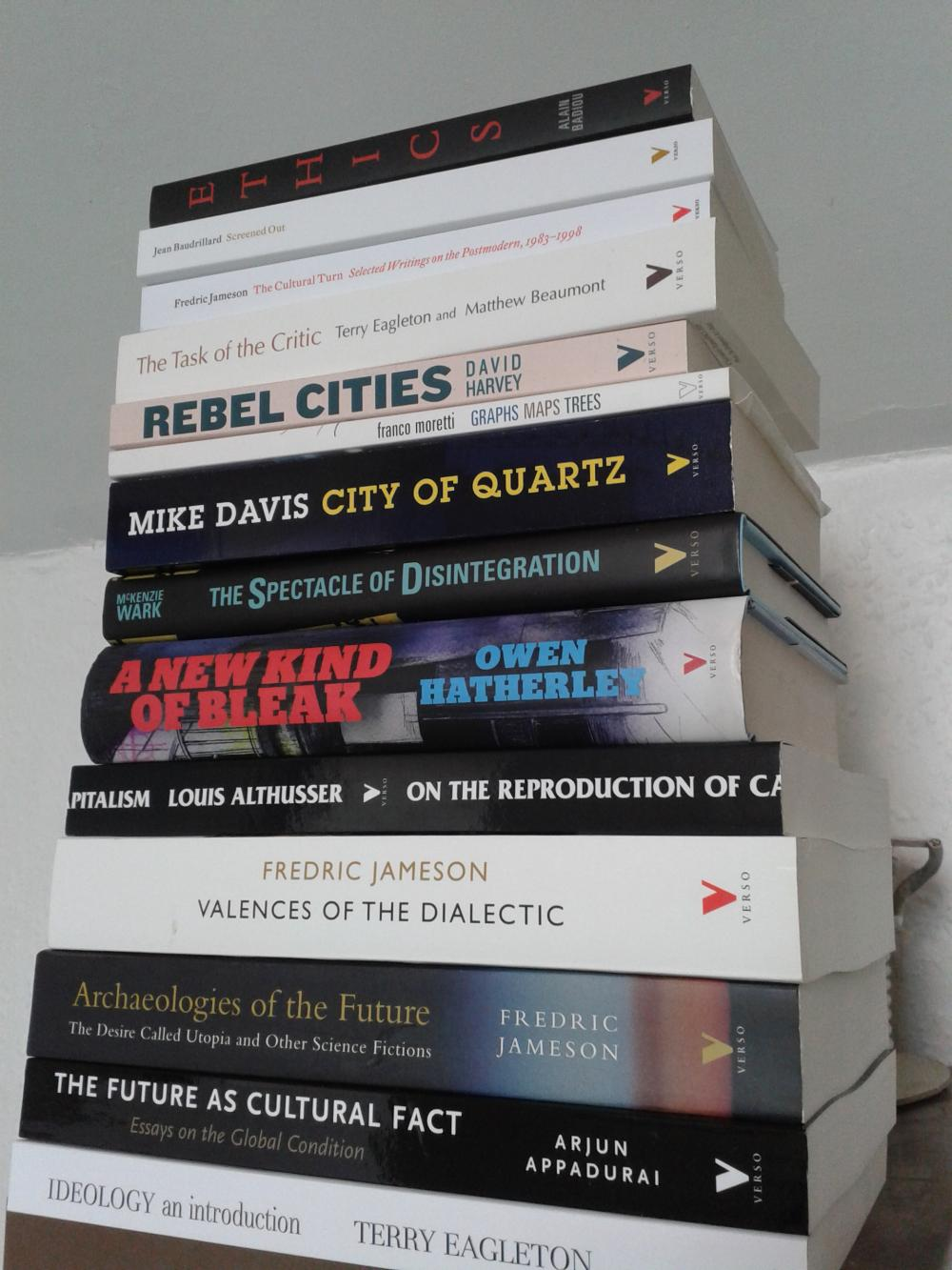 Sinister literature haul from Verso Books